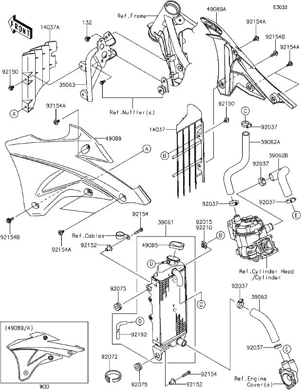Roberton's Motorcycles Kx85 2014 C7 Radiator. Open In New Window. Wiring. 2008 Kx85 Engine Diagram At Scoala.co