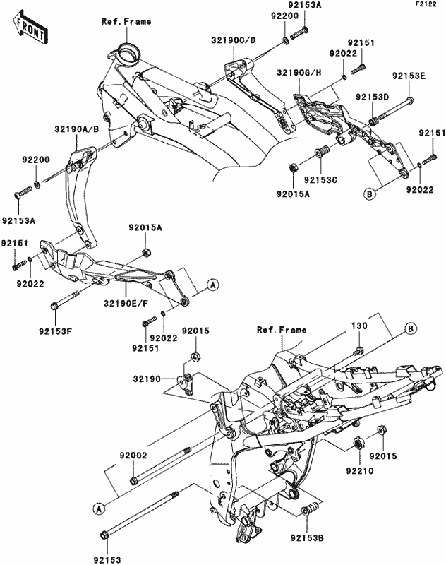 Kawasaki Engine Mounting Diagrams