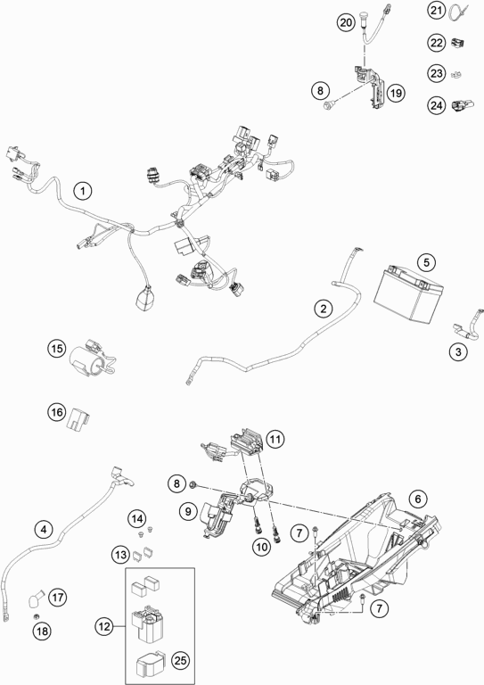Roberton's Motorcycles - FC 350 2019 - WIRING HARNESS on